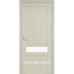 Двері КОРФАД CLASSICO CL-06 (без штапіка) дуб білений зі склом (сатин матовий)