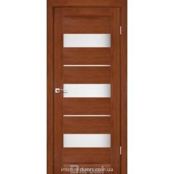 Двері Marsel Darumi горіх роял зі склом (сатин матовий)