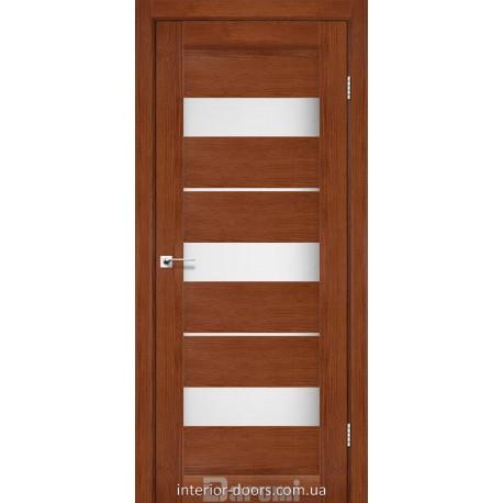 Двери Marsel Darumi орех роял со стеклом (сатин матовый)