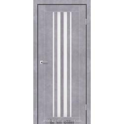 Двері Prime Darumi сірий бетон зі склом (сатин матовий)