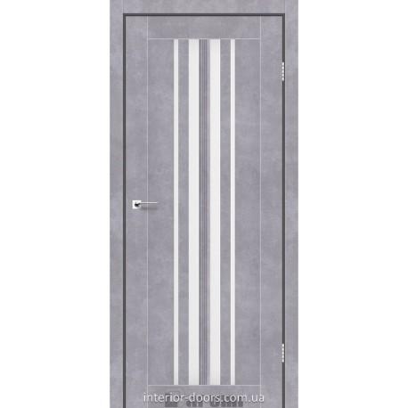 Двери Prime Darumi серый бетон со стеклом (сатин матовый)