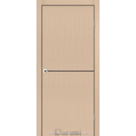 Двери Plato Line PTL-03 Darumi дуб боровой глухое + декор (черный)