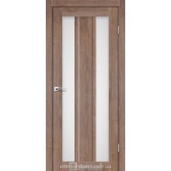 Двері Selesta Darumi горіх бургун зі склом (сатин матовий)