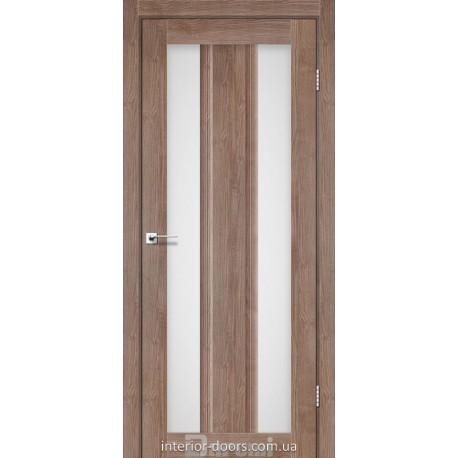 Двери Selesta Darumi орех бургун со стеклом (сатин матовый)