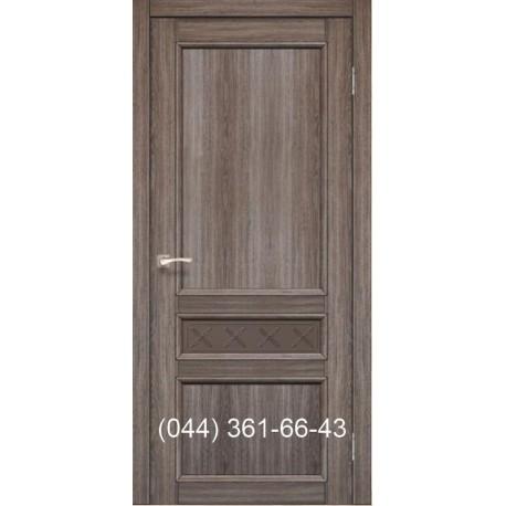 Двері КОРФАД CLASSICO CL-07 (зі штапіком) дуб грей зі склом (бронза) + рис. М1/М2