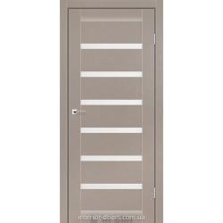 Двері Vela Darumi сірий краст зі склом (сатин матовий)