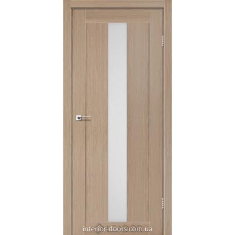 Двери Bari Leador дуб мокко со стеклом (сатин матовый)