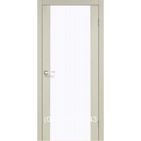 Двери КОРФАД SANREMO SR-01 дуб беленый со стеклом (сатин матовый)