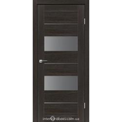 Двери Canelli Leador дуб саксонский со стеклом (графит)