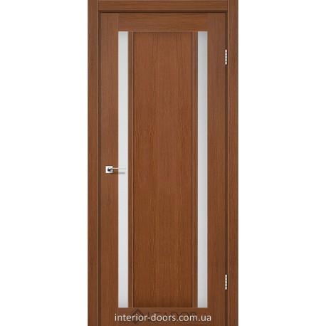 Двери Catania Leador браун со стеклом (сатин матовый)