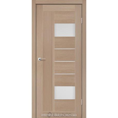 Двери Como Leador дуб мокко со стеклом (сатин матовый)