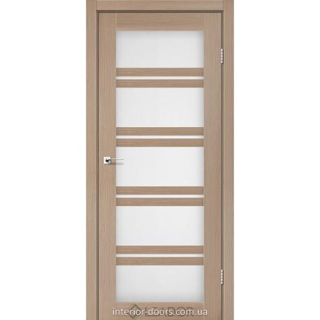 Двери Lodi Leador дуб мокко со стеклом (сатин матовый)