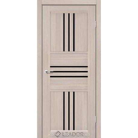 Двери Rona Leador монблан со стеклом (черное)