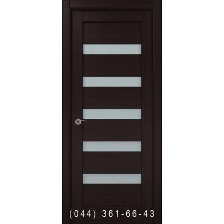 Двері Папа Карло Millenium ML-02с венге зі склом (сатин матовий)