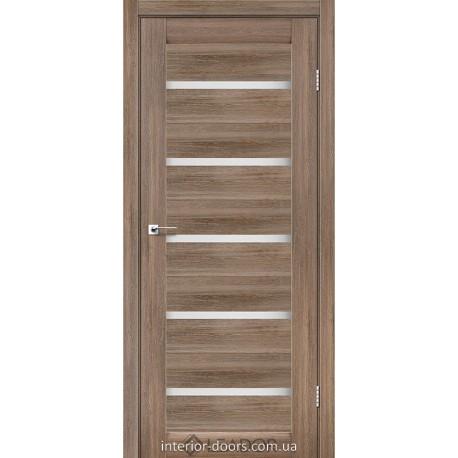 Двери Siena Leador серое дерево со стеклом (сатин матовый)
