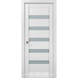 Двері Папа Карло Millenium ML-02с білий матовий зі склом (сатин матовий)