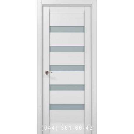Двери Папа Карло Millenium ML-02с белый матовый со стеклом (сатин матовый)