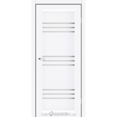 Двери Sovana Leador белый матовый со стеклом (сатин матовый)