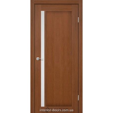 Двері Toskana Leador браун зі склом (сатин матовий)