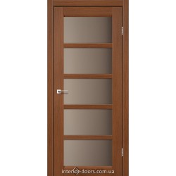 Двери Veneto Leador браун со стеклом (бронза)