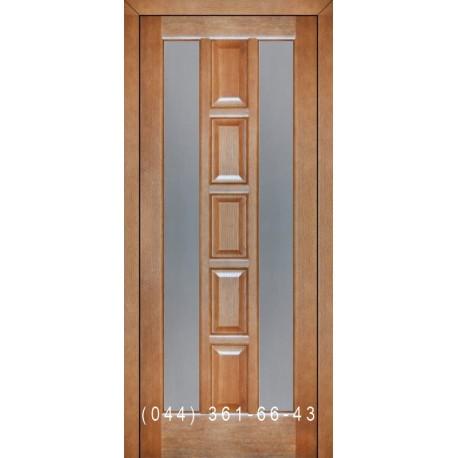 Двери Подольские Турин мокко со стеклом (сатин матовый)