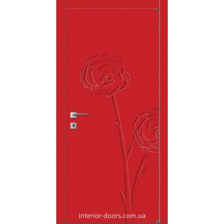 Двері Авангард Flora FL 1 глухе з фрезеруванням шовковистий мат