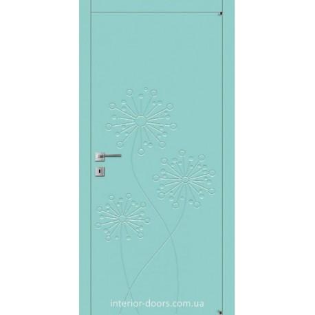 Двери Авангард Flora FL 7 глухое с фрезеровкой шелковистый мат