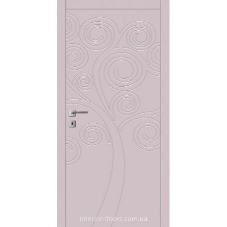 Двері Авангард Flora FL 9 глухе з фрезеруванням шовковистий мат