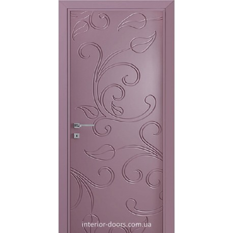 Двері Авангард Flora FL 12 глухе з фрезеруванням шовковистий мат