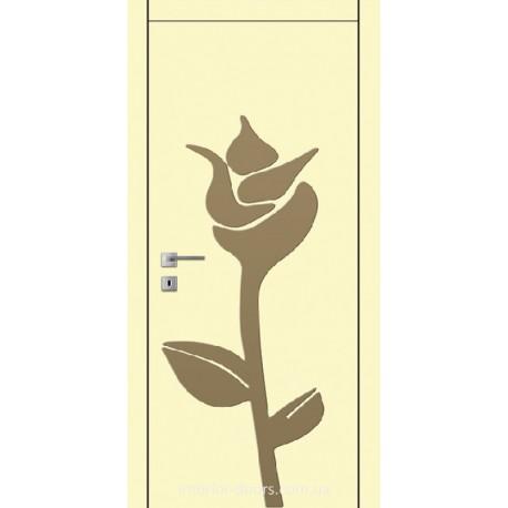 Двері Авангард Flora FL 16 з накладним елементом шовковистий мат