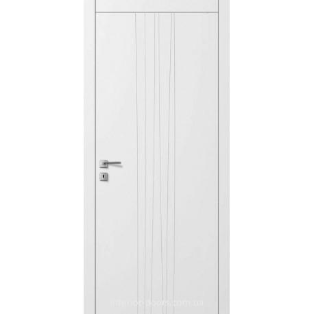 Двері Авангард Line AL7.2 глухе з фрезеруванням шовковистий мат