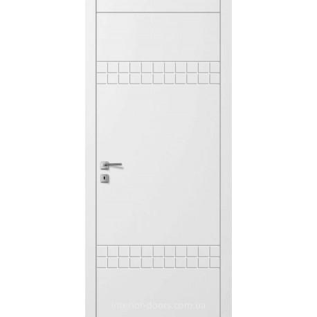 Двери Авангард Line AL 11.2 глухое с фрезеровкой белое шелковистый мат