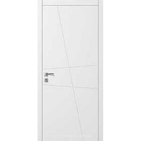 Двери Авангард Line AL 13 глухое с фрезеровкой белый шелковистый мат