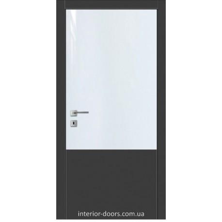 Двери Авангард Futura FТ.1.L со вставкой шпона шелковистый мат или глянцевый