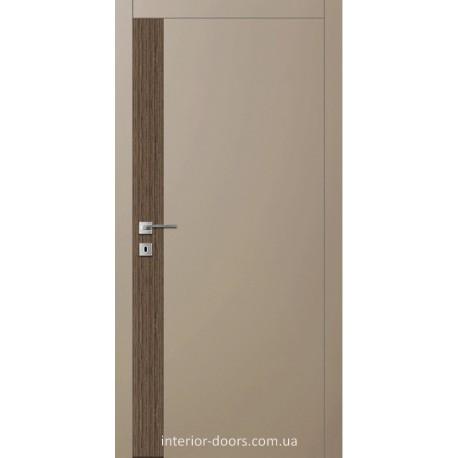 Двері Авангард Futura FТ.8.L зі вставкою шпону шовковистий мат або глянцевий