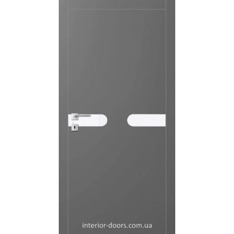 Двері Авангард Futura FТ.15.L зі вставкою шпону шовковистий мат або глянцевий