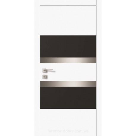Двері Авангард Futura FТ.16.S з комбінованими вставками скла фарбованого по RAL