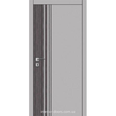 Двері Авангард Futura FТ.22.L зі вставкою шпону шовковистий мат або глянцевий