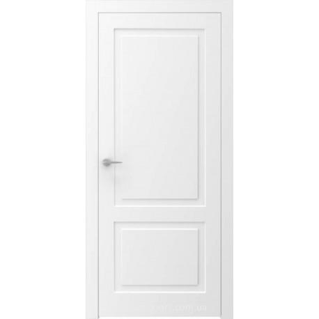 Двері QUADRO 1R білі глухі з фрезеруванням