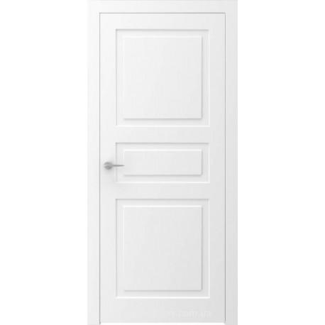 Двері QUADRO 3R білі глухі з фрезеруванням
