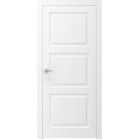 Двері QUADRO 4R білі глухі з фрезеруванням