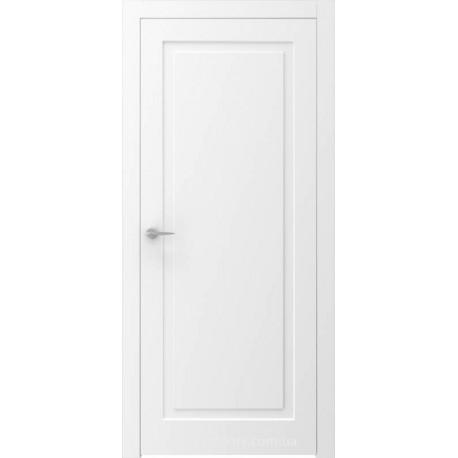 Двері QUADRO 6R білі глухі з фрезеруванням