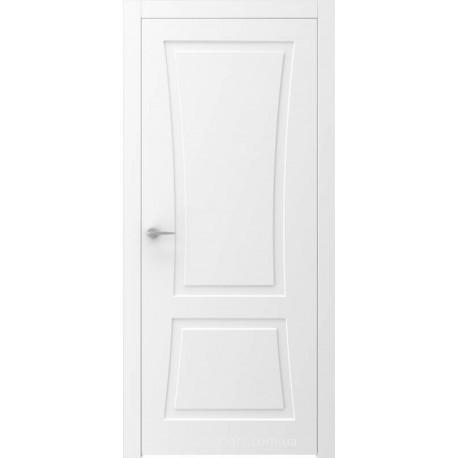 Двері QUADRO 7R білі глухі з фрезеруванням