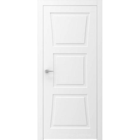 Двери QUADRO 8R белые глухие с фрезеровкой