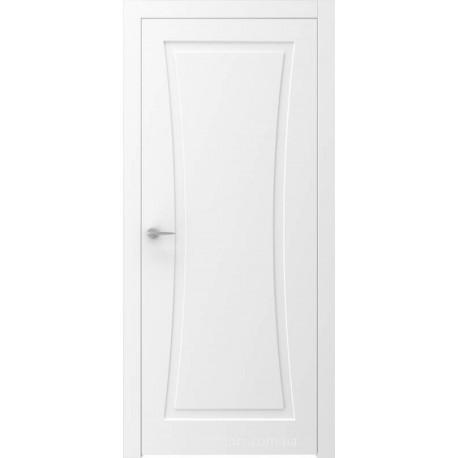 Двери QUADRO 9R белые глухие с фрезеровкой