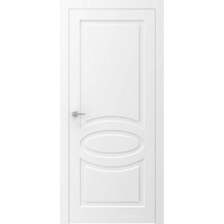 Двері QUADRO 11R білі глухі з фрезеруванням