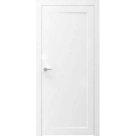 Двери SENSE 5 белые глухие с фрезеровкой