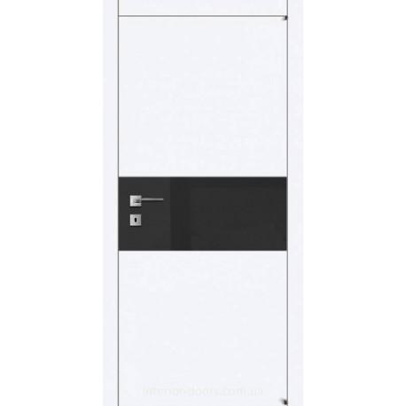 Двері Авангард Style А2.4.S біле зі склом Лакобель