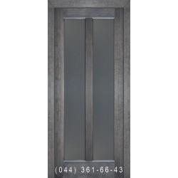 Двери Подольские Дельта дуб седой со стеклом (сатин матовый)