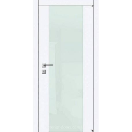 Двері Авангард Style А4.S біле зі склом Лакобель